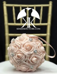 PINK BLUSH Flower Ball With Large CRYSTAL RHINESTONE BROOCHES. Brooch Flower Girl Bouquet. Bridesmaids Bouquet. Wedding Centerpiece. Bridal Shower. Baby Shower. Quinceanera. Sweet 16. PICK ROSE COLOR!! PICK SILVER Or GOLD BROOCHES!! 7 Flower Ball is pictured. (IMAGES 1-7) 14 Flower Ball is pictured Flower Ball Centerpiece, Red Centerpieces, Mickey Centerpiece, Crown Centerpiece, Dusty Rose Wedding, Aqua Wedding, Flower Girl Bouquet, Flower Brooch, Bridesmaid Bouquet