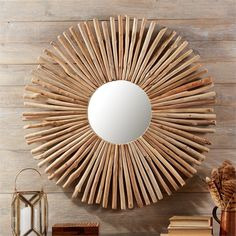 Circular Wall Decor sunburst round wall mirror ❤ liked on polyvore featuring home