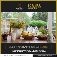 THE HEMISPHERE PRESENTS EXPA VILLAS  Presenting 143 Sq.Yd. exclusive #expandable villas in the heart of #GreaterNoida . Crafted perfectly for those who loves to immerse their lifestyle into luxury. A luxurious well-appointed clubhouse calms body, mind and soul. A plethora of amenities to pamper your dear ones and you.
