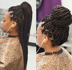 All styles of box braids to sublimate her hair afro On long box braids, everything is allowed! For fans of all kinds of buns, Afro braids in XXL bun bun work as well as the low glamorous bun Zoe Kravitz. Box Braids Hairstyles, Senegalese Twist Hairstyles, My Hairstyle, African Hairstyles, Girl Hairstyles, Hairdos, Hairstyles Videos, Black Hairstyles, Jumbo Senegalese Twists