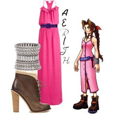 This is perfect! Aerith from Kingdom Hearts