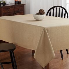 Bon Burlap Natural Tablecloth 60 X 80