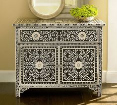 I love mother of pearl Morrocan inspired furniture