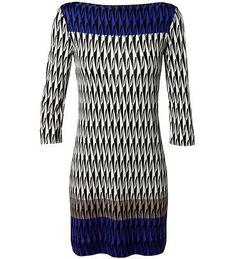 DIANE VON FURSTENBERG  - Shiftkleid 'Ruri' mit abstraktem Muster Blau/Multi