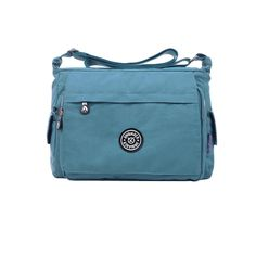 Caual Outdoor Crossbody Bag Waterproof Nylon Pockets Zipper Pendant Shoulder Bag