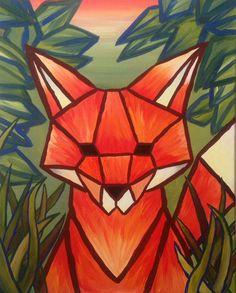 """Artmasters presents """"Polygon-Art"""" - Bilder wie Diamanten…  Durch geometrische Flächen dargestellt und die charakteristischen Merkmale mit Farbe herausgearbeitet... wie ein Rohdiamant durch seinen Schliff Schönheit und Strahlkraft entfaltet, gewinnt auch """"Fred the Fox"""" durch die geometrisch abstrahierte Umsetzung markante Züge... www.artmasters.de  #artmasters #polygonart #fox #fuchs #paintparty #malparty #ausgehen #nürnberg #münchen #malen"""