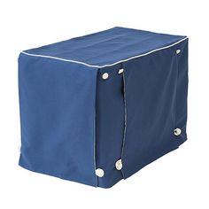 Add a luxury feel to your home with the Sailor Blue with Natural Twill Designer Dog Crate Cover. This luxury design is made with 100% cotton upholstery fabric. Free shipping!