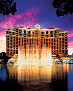Bellagio - Bellagio is located in the heart of the Las Vegas Strip, and overlooks a Mediterranean-blue lake in which fountains perform a magnificent ballet choreographed to music and lights.