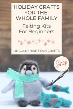 If Percy doesn't get you in the festive mood then you might as well skip to January because needle felting and Christmas go together like mince pies and brandy butter. This delightful needle felting kit is an easy, no sew Christmas craft that the whole family will enjoy. Make your Christmas handmade. #lincolnshirefenncrafts Creative Christmas Gifts, Homemade Christmas Gifts, Creative Gifts, Handmade Christmas, Holiday Crafts, Christmas Diy, Craft Kits, Craft Ideas, Needle Felting Kits