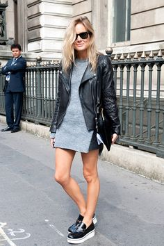 Shoe street style: white platforms / Street style chaussures: les plateformes à semelles blanches