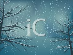 Royalty Free Clipart Image of a Winter Landscape