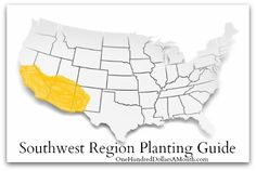 If you live in the Southwest Region and are unsure what seeds you should be starting right now, or when your transplants should be set out in the garden, this regional planting guide should help you out. Don't live in the Southwest? Find your regional...