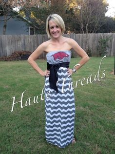 NEW Maxi Gameday Dresses!  Only $75 and made from YOUR favorite tee!  https://www.etsy.com/listing/114036881/custom-made-one-of-a-kind-collegiate