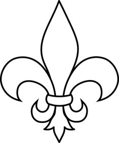Black and White Fleur De Lis Outline - Free Clip Art Art Projects, Sewing Projects, Knight Costume, Medieval Party, Knight Party, Dragon Party, Cub Scouts, Line Art, Coloring Pages