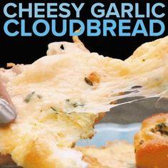 Cheesy Garlic Cloud bread : GifRecipes