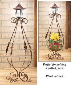 Solar Antique Metal Teardrop Light in 2020 Garden Whimsy, Garden Deco, Patio Garden Ideas On A Budget, Landscape Lighting Kits, Wrought Iron Decor, Outdoor Chandelier, Diy Plant Stand, Collections Etc, Iron Furniture