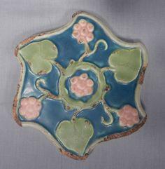 Antique Rookwood Pottery Matte Glaze Architectural Tile Pinwheel Trivet