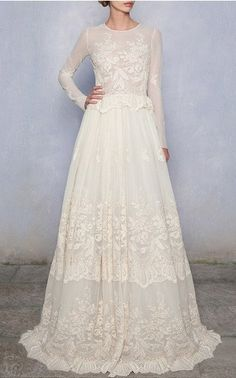 Luisa Beccaria Bridal Look 19 on Moda Operandi Brides's style. Perfect wedding dress.