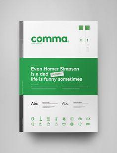 Comma brand guidelines — Thorbjørn Gudnason