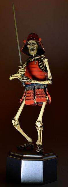 TAKEYA式自在置物「骸骨武者 著彩版」タケヤ式自在置物 骸骨武者 着彩 | 玩具人Toy People News