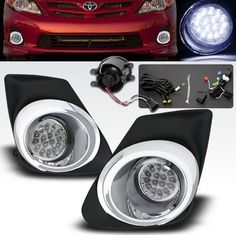 11-12 Toyota Corolla 16 Super White LED Chrome Trim Fog Lights Kit 16 Ultra Bright White LEDs. Improve Visibility During Low Visibility Condition and Overall Exterior Appearance. Package includes wiring harness, relays, left / right trim and all necessary hardware for installation. Installation guide is not included; Professional installation is strongly recommended. Fits 2011 2012 Toyota Corolla ... #Remix_Custom #Automotive_Parts_and_Accessories