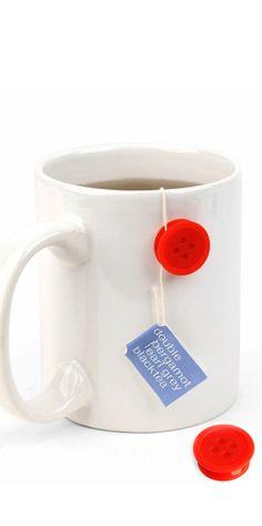 Tea bag button - sticks on your mug and holds the tea bag string