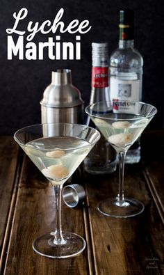 Lychee Martinis - Sweet, sour, tropical and very very drinkable!!!! This is the perfect cocktail for a #girlsnight