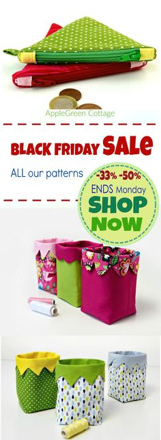 Make amazing Christmas gifts - and that using patterns that are not expensive! Black Friday Sale in our shop. Get all PDF patterns -33% or even -50%. Ends on Cyber Monday. If you wish to get them, now's the time.