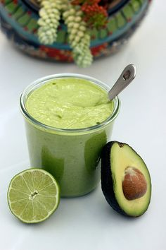 Creamy Avocado Dressing - Gluten-free + Dairy-free w/ Vegan Option