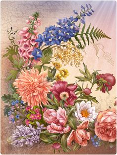 Flowers Language on Behance -Irina Vinnik
