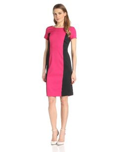 Jones New York Women's Colorblock Mini-Pique Dress, Hot Pink, 16 Jones New York,http://www.amazon.com/dp/B00FXW8Y6C/ref=cm_sw_r_pi_dp_sIh0sb1PXAQM1C1A