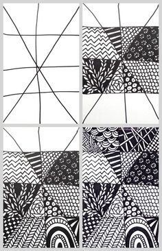 Easy Zentangle Project - this is a great art project for kids or creative fix for when you don't want to draw for hours.