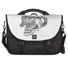 Skull Devil head Black and white Design - Commuter Bags - NEW by Krisi ArtKSZP on Zazzle