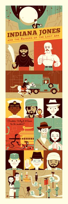 Indiana Jones and the Raiders of the Lost Ark Poster by Dave Perillo