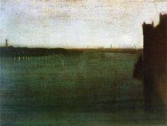 James McNeil Whistler  Nocturne: Grey and Gold,Westminster Bridge  1871-1872