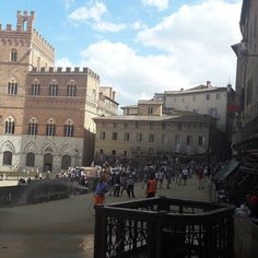 It's #Palio #time in #Siena #Tuscany #Italy #campo #square #august2017 #August #2017 #Sienna