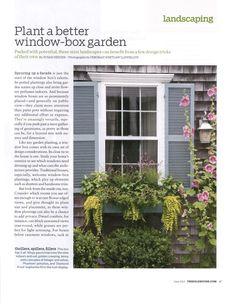 Window Box ideas Best Windows, Window Boxes, Landscaping Plants, Facade, Beach House, Yard, Cottage, Exterior, Patio