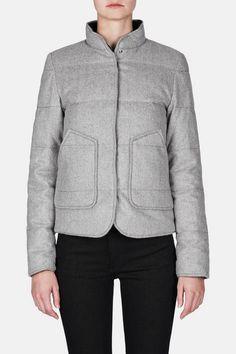 Gabriela Hearst — Finn Reversible Coat   Grey — THE LINE