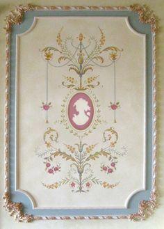 Stencil parete arredamento francese Marie-Antoinette Grand