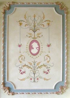 Pochoir mural Marie-Antoinette Grand panneau LG - des détails étonnants - décor français