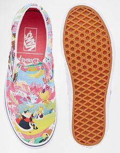 18b8b2263c22 Image 3 of Vans Disney Alice Slip On Trainers Vans Disney