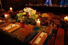 mise en place table set for Bulgari, inside the Cini Foundation in San Giorgio Island Venice  #bulgari, #events, #venezia, #eventi, #table, #idea, #sealingwax, #glass, #style, #murano, #gold, #red, #velvet, #dinner, #calligraphy, #scenography Matteo Corvino