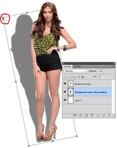 How To Create A Realistic Drop Shadow Using Photoshop? - Hold down command key to-get-the-little icon to move the corners
