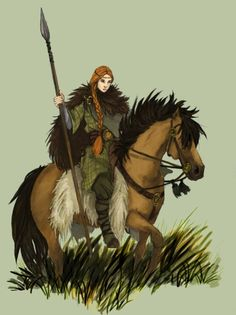 Not all armor is metal. Here's another lovely Gaelic lass. By Magdalena (Werdandi).