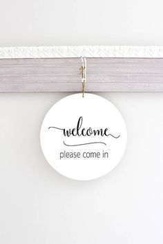 Round Modern In Session Sign Do Not Disturb Sign Welcome