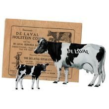 FOR SALE ON RUBY LANE: http://www.rubylane.com/item/27950-3234/DeLaval-Holstein-Cow-Calf-Original DeLaval Holstein Cow, Calf & Original Envelope Advertising Set