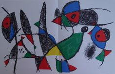 JOAN MIRO :  Grenouille, poisson et oiseau - Litographie originale #MAEGHT 1974   Art, antiquités, Art du XXe, contemporain, Estampes, gravures   eBay!