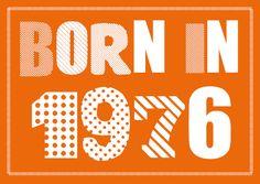 Einladungskarte zum 40. Geburtstag:  Born in 1976  ............  *So funktioniert die Bestellung:  Lege einfach die gewünschte Karte in den Warenkorb. Im Warenkorb gibt es ein... Happy Birthday, Typography Poster Design, Disco Party, Milestone Birthdays, All Craft, Getting Old, Birthday Invitations, Favorite Quotes, Etsy