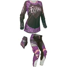 Purple, not a fan. Design, I love. Motocross Gear, Motosport, Leg Cuffs, Dirtbikes, Kids Gifts, Mom And Dad, Female Models, Racing, Purple