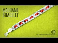 Macramé Star Wars Bracelet Tutorial | Chevron Pattern - YouTube